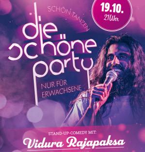 Die Schöne Party am 19.10.19 - 3 Dancefloors & engl. Stand-Up-Comedy