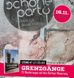 """Die Schöne Party am 16.11.19 - 3 Dancefloors & Lesung """"Grenzgänge"""""""